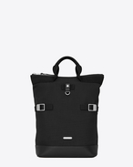 SAINT LAURENT Buckle Backpacks U RIVINGTON RACE convertible backpack in canvas f