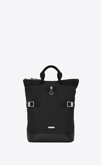 SAINT LAURENT Buckle Backpacks Man RIVINGTON RACE convertible backpack in canvas a_V4