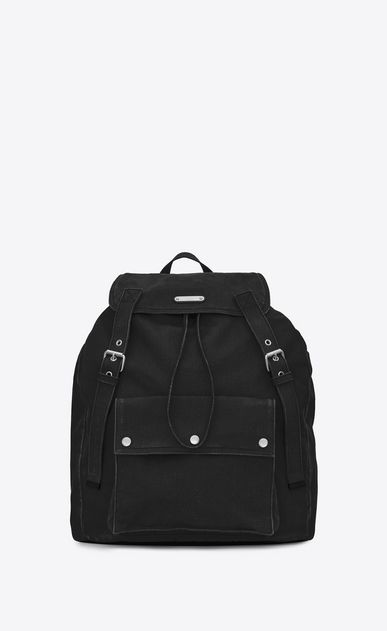 SAINT LAURENT Noé luggages Man NOE SAINT LAURENT backpack in black gabardine a_V4