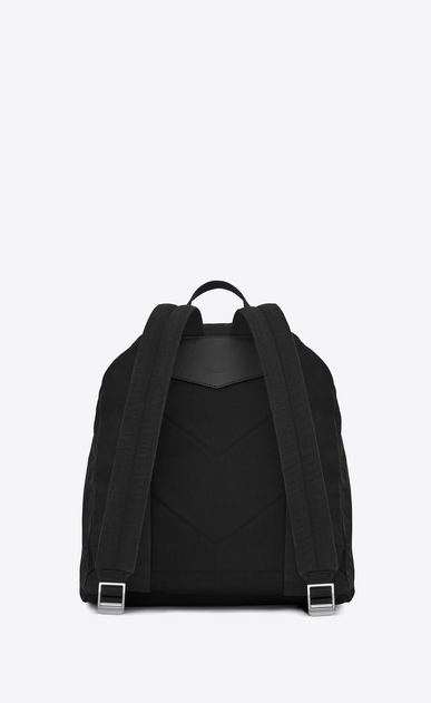 SAINT LAURENT Noé luggages Man NOE SAINT LAURENT backpack in black gabardine b_V4