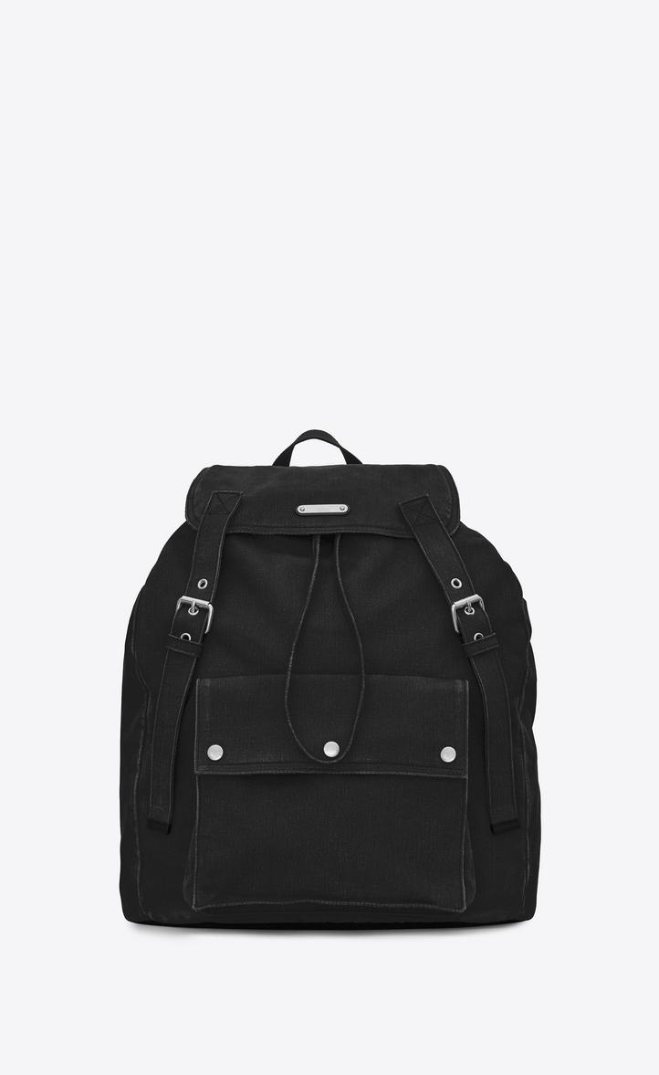 Saint Backpack In Noe Gabardine Laurent 00PUAw7x
