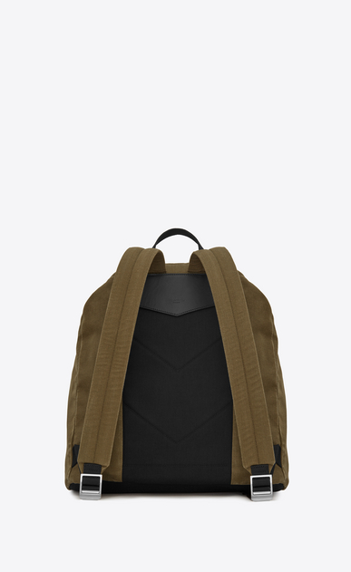 SAINT LAURENT Noé luggages Man NOE SAINT LAURENT backpack in khaki gabardine b_V4