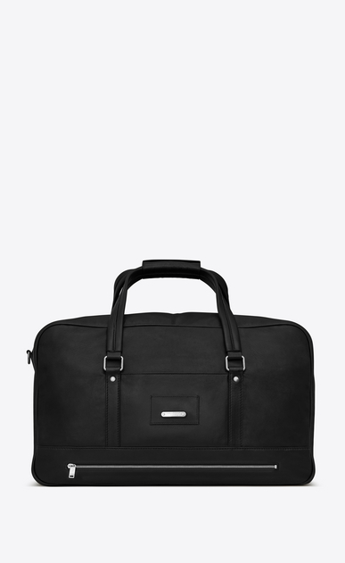 SAINT LAURENT Noé luggages U NOE SAINT LAURENT duffle bag in black leather a_V4