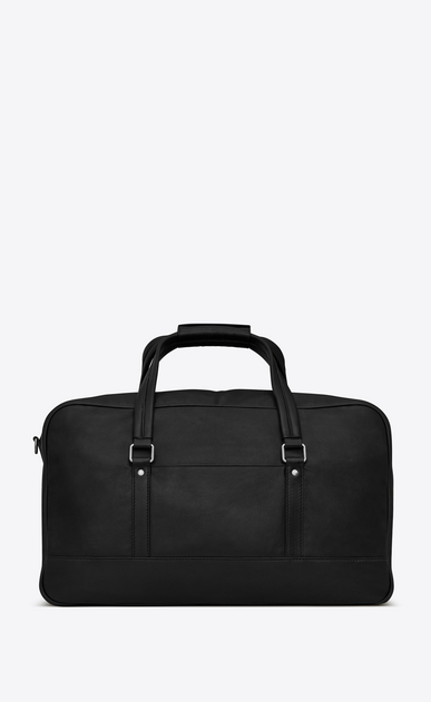 SAINT LAURENT Noé luggages U NOE SAINT LAURENT duffle bag in black leather b_V4