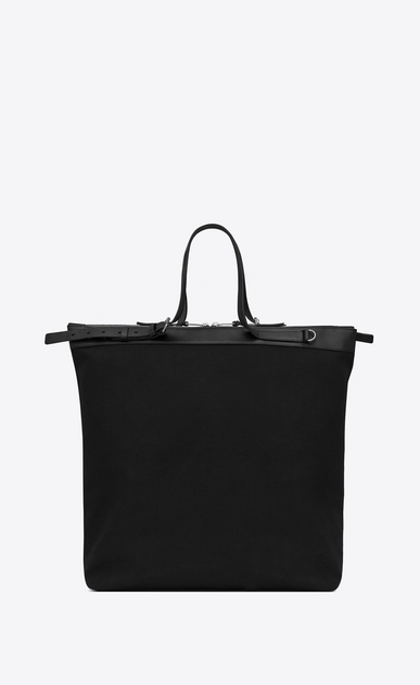 SAINT LAURENT Totes Man ID shopping bag in black canvas b_V4