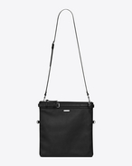 SAINT LAURENT Messenger And Crossbody U ID shoulder pouch bag in black leather f