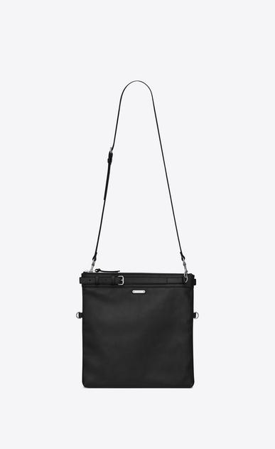 SAINT LAURENT Messenger And Crossbody U ID shoulder pouch bag in black leather v4