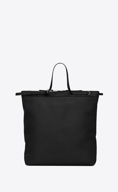 SAINT LAURENT Totes Man ID shopping bag in black leather b_V4