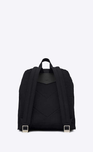 SAINT LAURENT Noé luggages Uomo Zaino NOE SAINT LAURENT con patch multicolore nero in gabardine b_V4