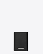 SAINT LAURENT ID SLG U Three-part ID wallet in black leather f