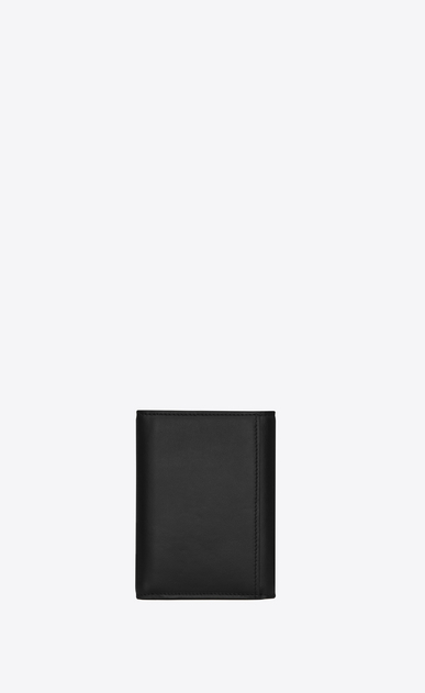 SAINT LAURENT ID SLG Man Three-part ID wallet in black leather b_V4