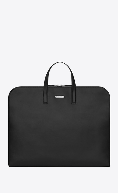SAINT LAURENT Business Homme Porte-documents ID en cuir noir a_V4