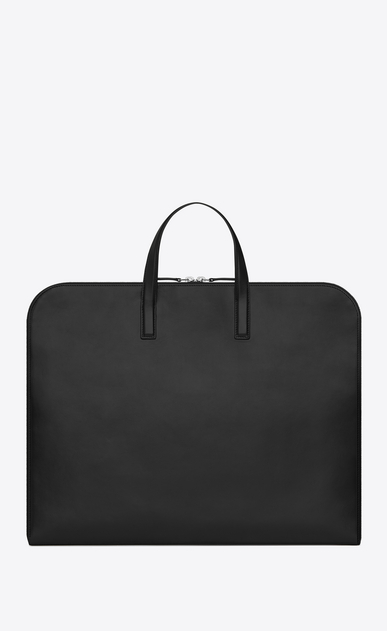 SAINT LAURENT Business Homme Porte-documents ID en cuir noir b_V4