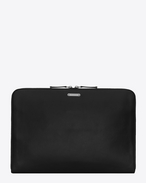 SAINT LAURENT ID SLG U ID zipped laptop pouch in black leather f