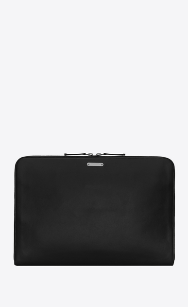 SAINT LAURENT ID SLG U Astuccio per laptop in pelle nera a_V4