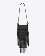 SAINT LAURENT Messenger And Crossbody U Large TANGER bag in black leather f