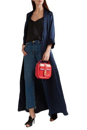 GIANFRANCO LOTTI Otto medium striped leather shoulder bag