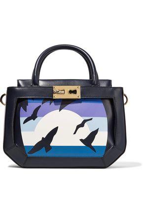 GIANFRANCO LOTTI The Galaga paneled leather shoulder bag