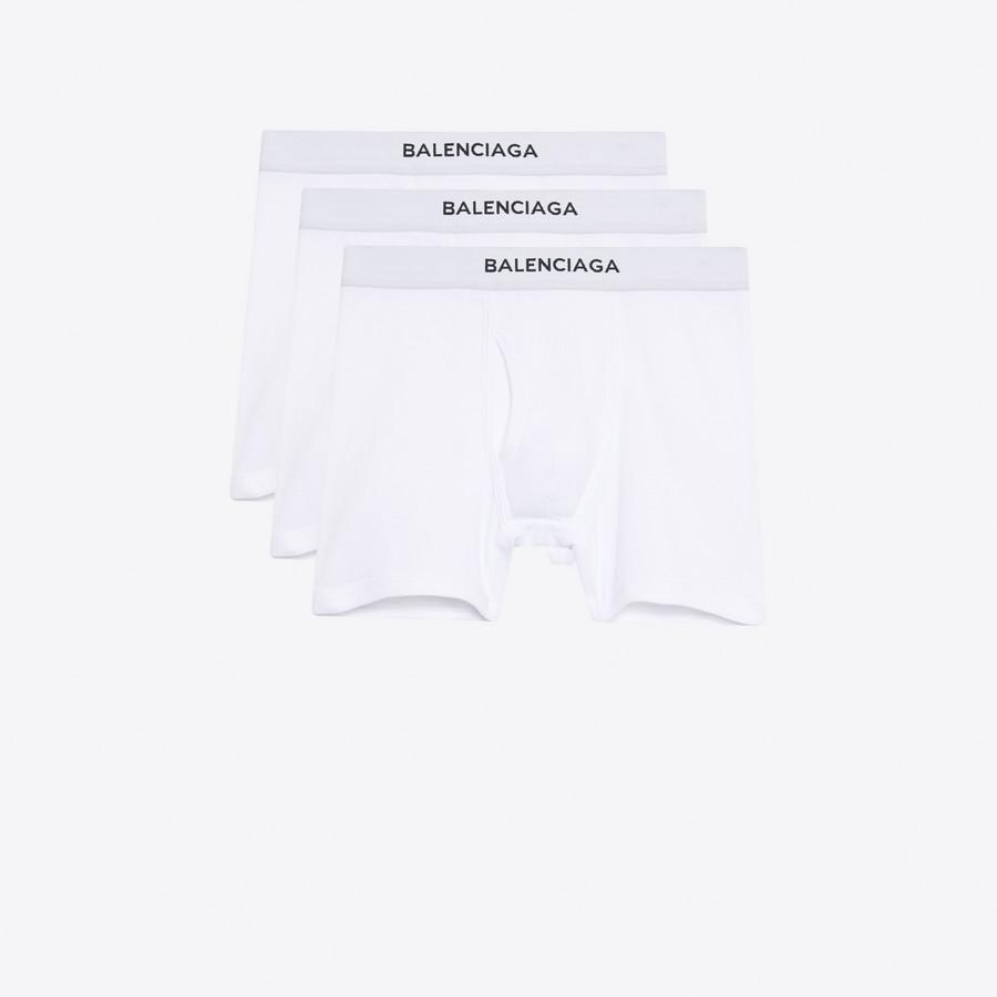 BALENCIAGA Three-Pack Balenciaga Boxers Underwear Man f