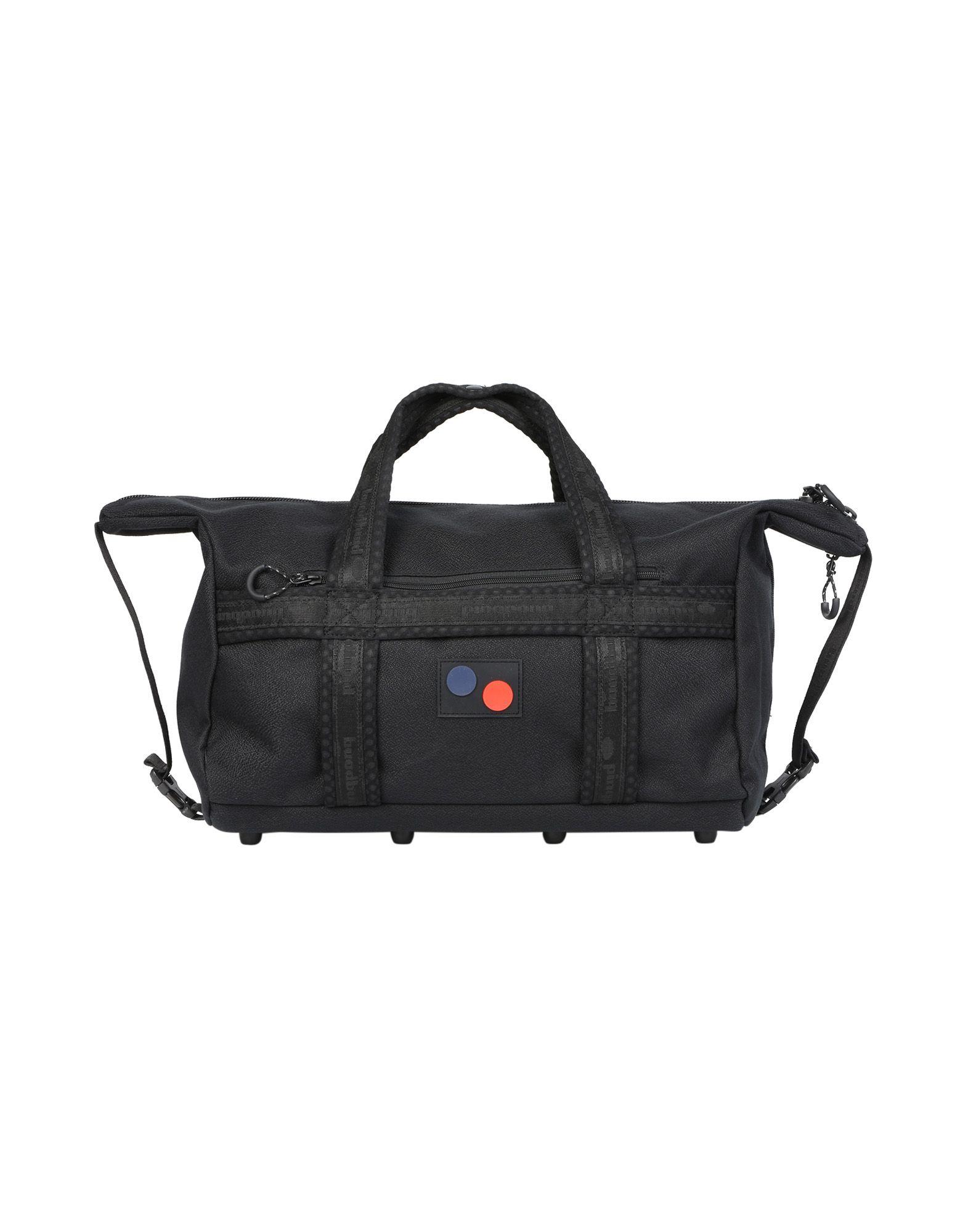 《送料無料》PINQPONQ Unisex 旅行バッグ ブラック ポリエーテル 100% KARAVAN