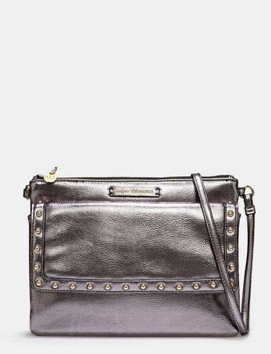 STUD DETAIL METALLIC CROSSBODY