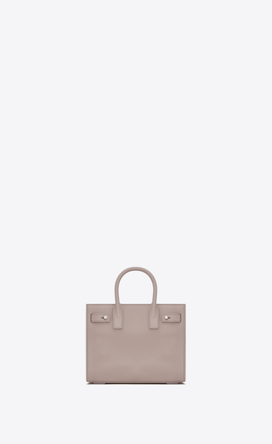 SAINT LAURENT Sac De Jour Supple D Nano SAC DE JOUR SOUPLE bag in powder pink grained leather b_V4