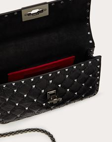 Small Crinkled lambskin Rockstud Spike Bag