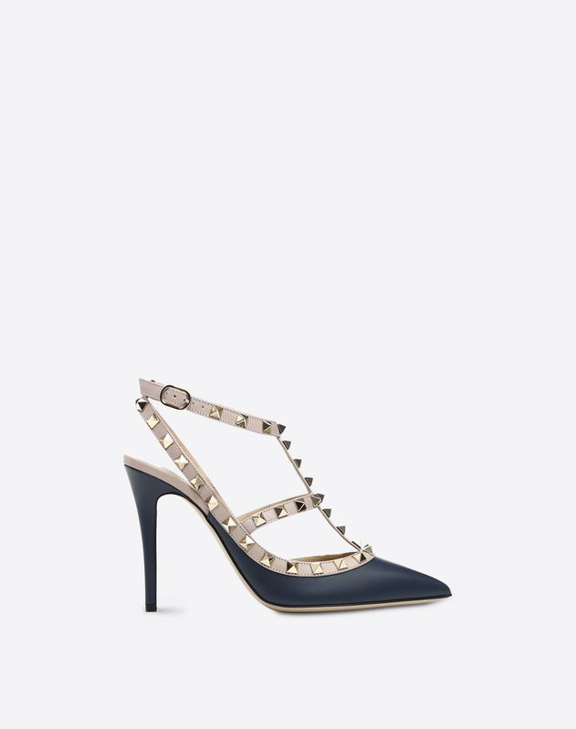 Navy Cage Rockstud Pump 100mm