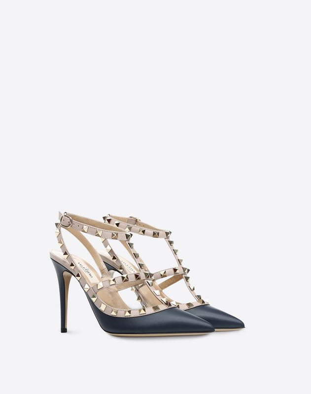 Navy Rockstud Pump 100mm