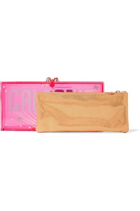 CHARLOTTE OLYMPIA Galactic Penelope embellished Perspex clutch