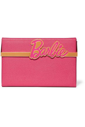 CHARLOTTE OLYMPIA + Barbie® Vanina textured-leather box clutch
