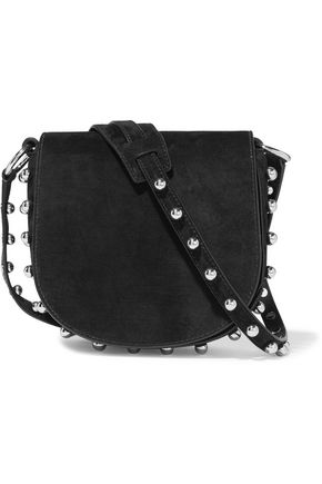 ALEXANDER WANG Lia mini studded suede shoulder bag