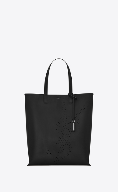 SAINT LAURENT Totes Man BOLD shopping bag in vintage leather with perforated logo a_V4