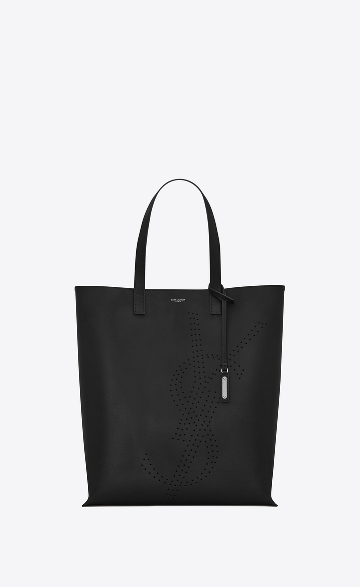 Saint Laurent BOLD Shopping Bag In Vintage Leather With Perforated ... 8e9ac79224