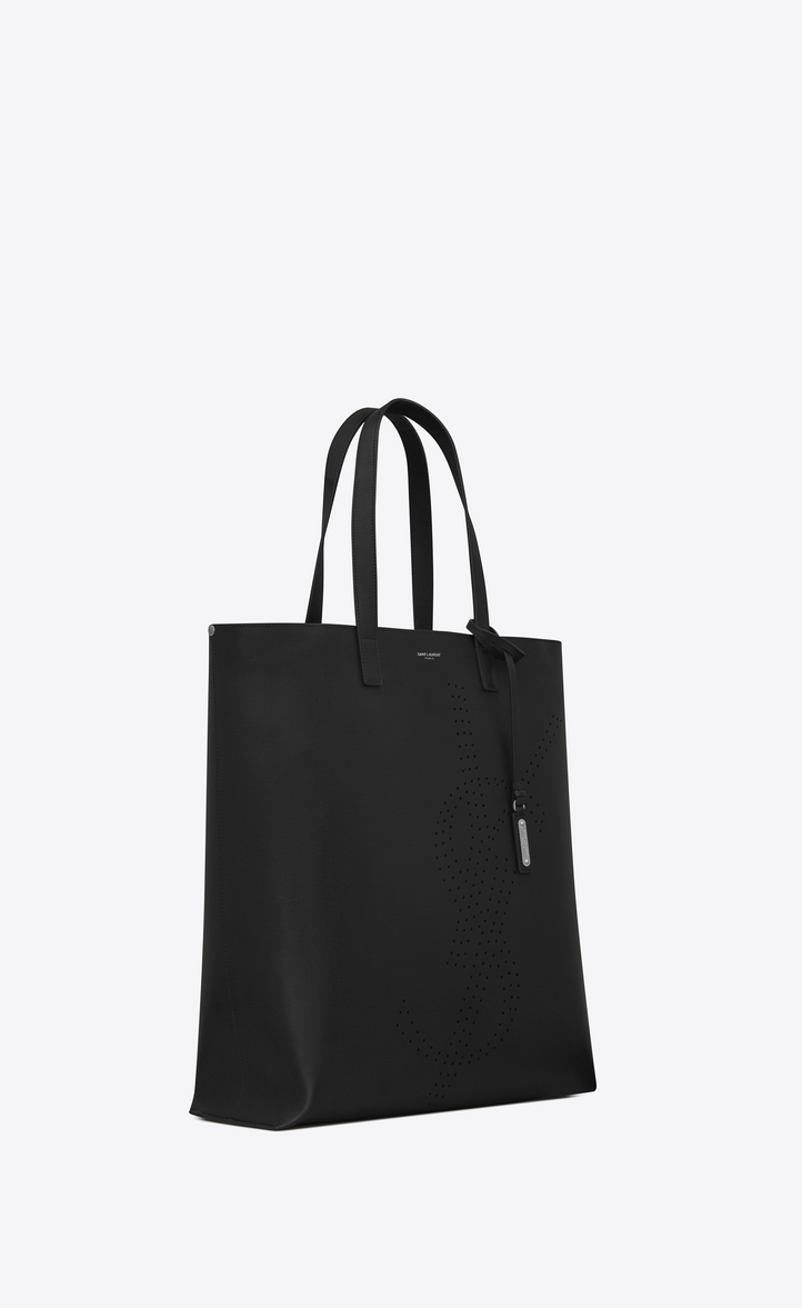 Zoom  BOLD shopping bag in vintage leather with perforated logo, Another  angle view d342a8d4fd