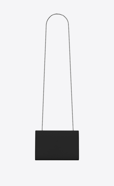SAINT LAURENT MONOGRAM KATE Woman classic small kate chain bag in black grain de poudre textured leather b_V4