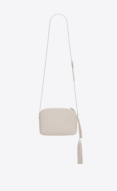 SAINT LAURENT Monogram Lou Donna lou camera bag in pelle bianco ghiaccio b_V4