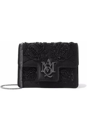 ALEXANDER MCQUEEN Embellished satin shoulder bag