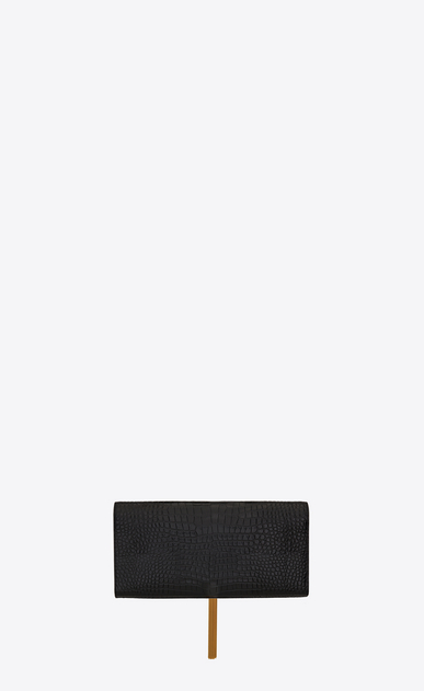 SAINT LAURENT MONOGRAM KATE WITH TASSEL D classic monogram saint laurent tassel clutch in black crocodile embossed leather b_V4