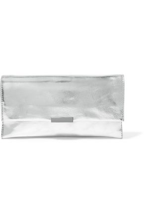 LOEFFLER RANDALL Metallic textured-leather clutch