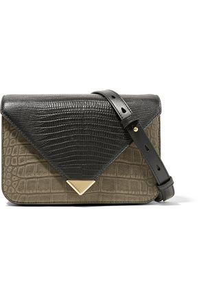 ALEXANDER WANG Prisma small croc and lizard-effect leather shoulder bag