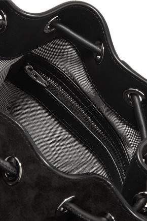 ALEXANDER WANG Alpha studded suede bucket bag