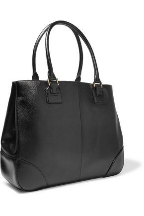 TORY BURCH Robinson textured-leather tote