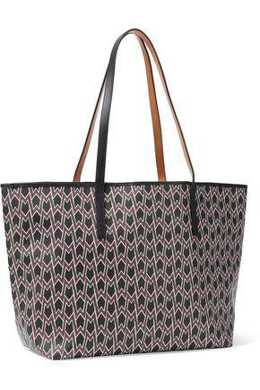 MAJE Printed faux leather tote bag