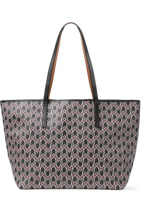 MAJE Printed canvas tote