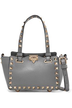 The Rockstud mini textured-leather shoulder bag