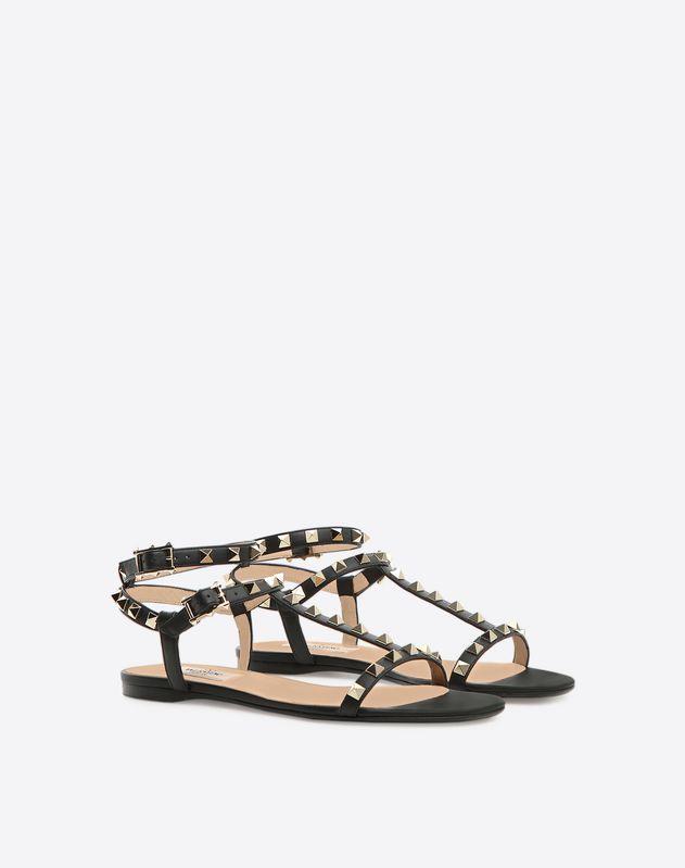 Rockstud T-strap Flat Sandal