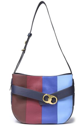 TORY BURCH Striped leather shoulder bag