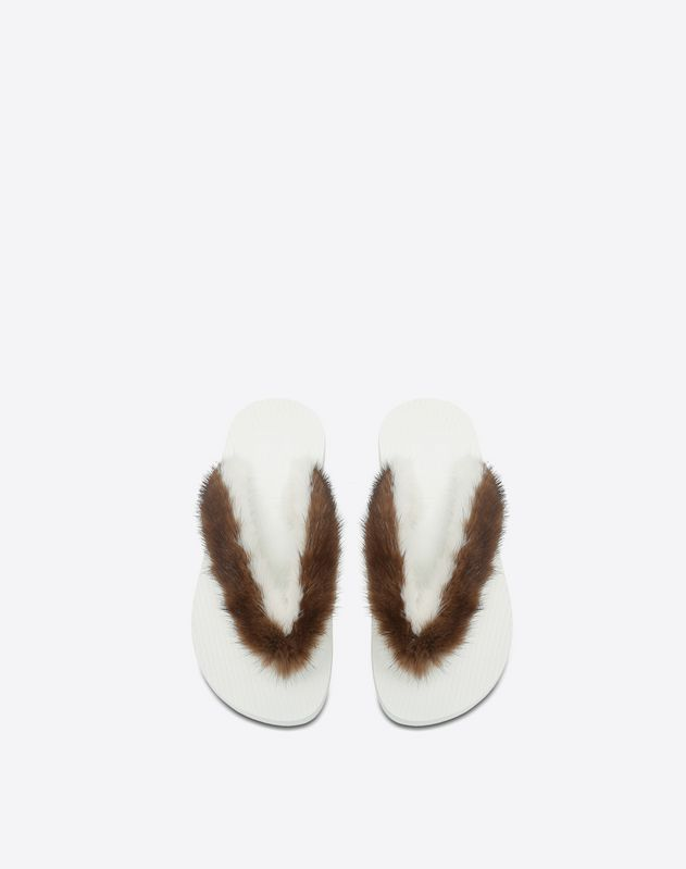 Thong Sandal with Mink