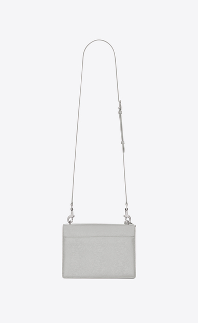 SAINT LAURENT Sunset D Medium SUNSET Satchel in chalk white Grained Leather b_V4